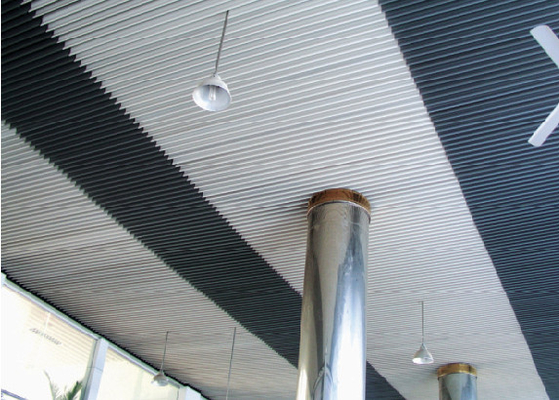 Perforated Beveled Aluminium Strip Ceiling