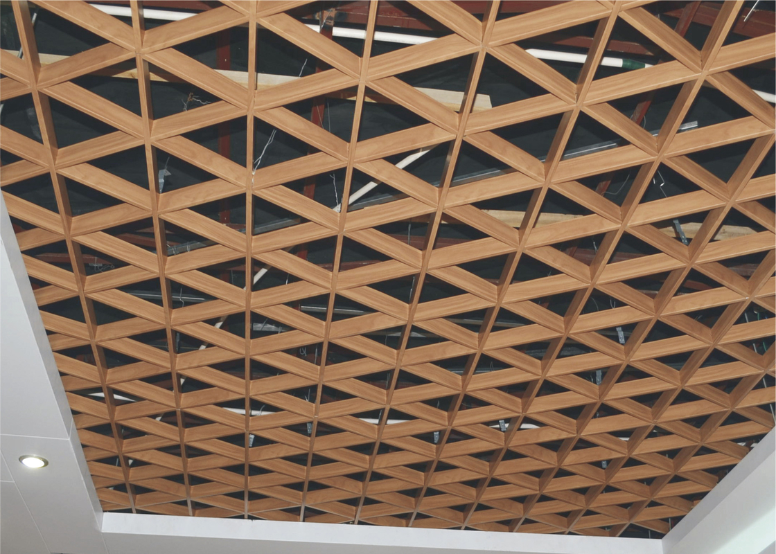 Indoor Triangle Aluminum Metal Ceiling Grid Fireproof For Supermarket Construction Materials
