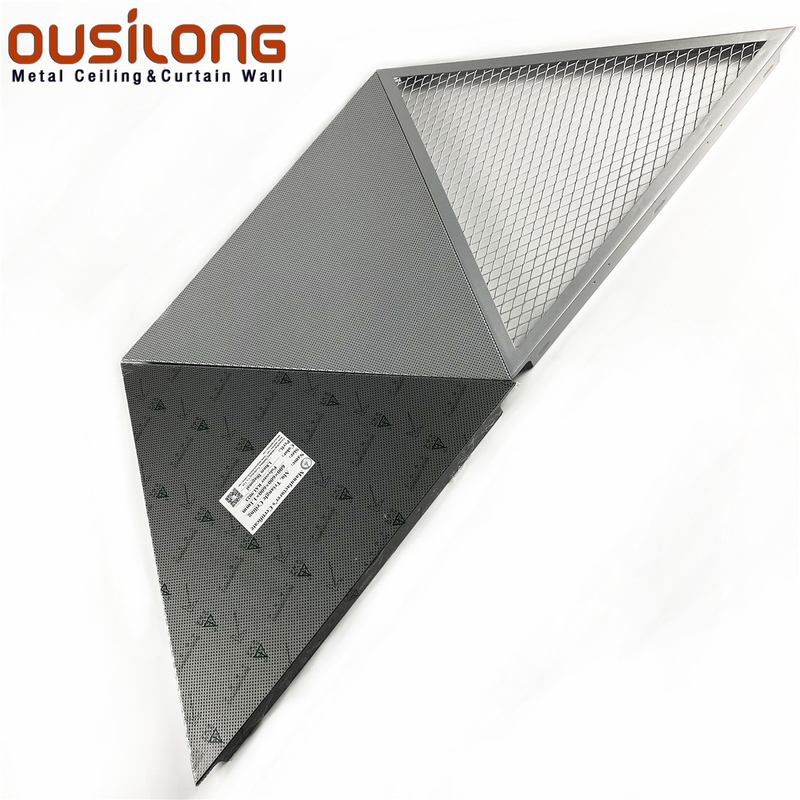 0.5mm Triangle Mesh Clip Snap In Ceiling For Commercial Building