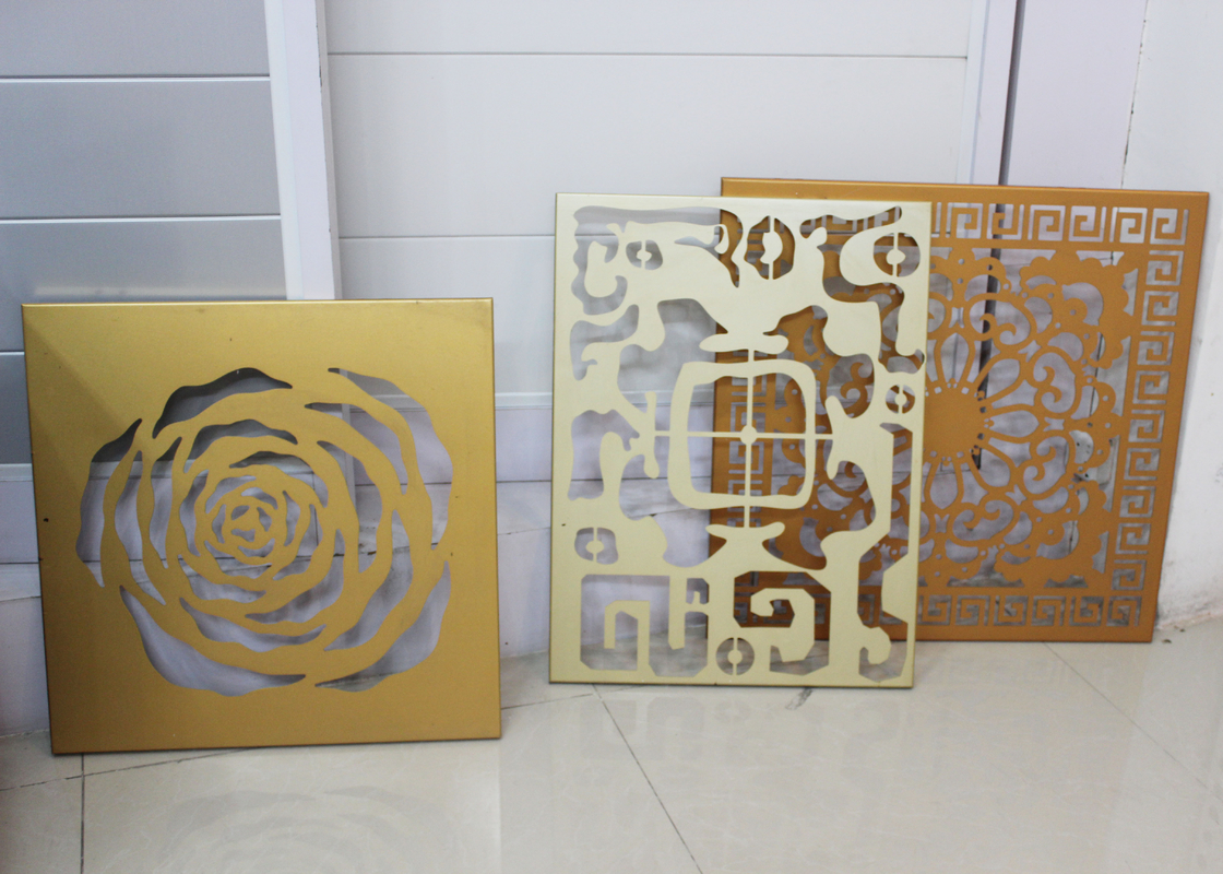 Laser Engraving Aluminum Wall Panels / Carved Skeleton Hollow Out Decoration Panel