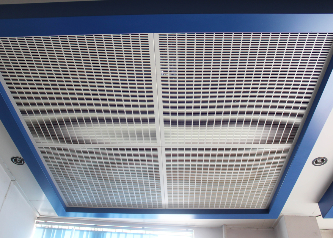 Square Hole Perforated Metal Ceiling / Clip in Ceiling for Office Building Ceiling